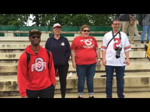 Ohio State fans watch Michigan practice in Italy