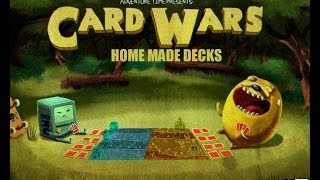 Card Wars Board Game Home Made Decks(featuring Finn And Jake)