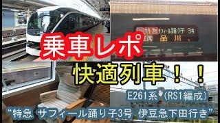 """E261系(RS1編成) """"特急 サフィール踊り子3号 伊豆急下田行き""""に乗ってきた!! 2020/03/27"""