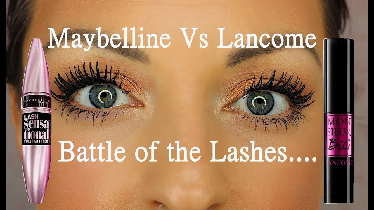 Lancome Monsieur Big mascara Vs Maybelline Lash Sensational - YouTube 856f953d555