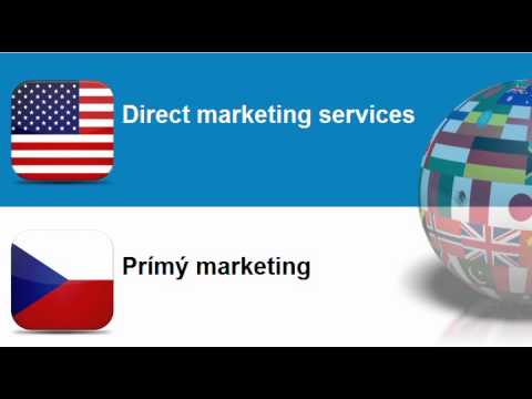 Learn Czech vocabulary #Topic = Advertising and marketing services
