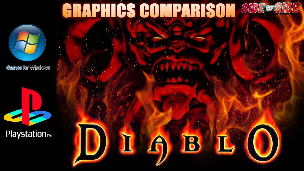 diablo graphics comparison ps1 pc youtube