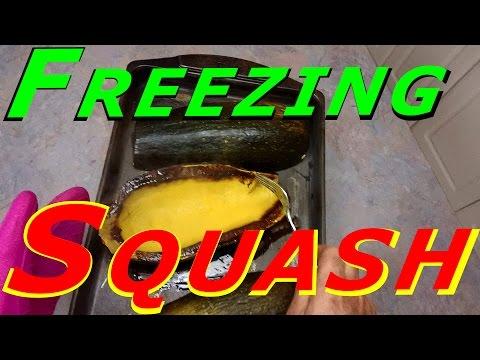 Processing & Freezing Squash #127 Heirloom Organic Vegetable Garden