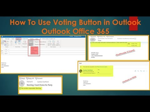 How To Use Voting Button In Outlook Outlook Office 365