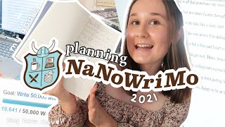 preparing for nanowrimo 2021! planning my first novel!