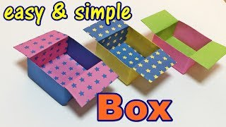 Origami Box Easy For kids with One Piece of Paper | How to Make a Paper Simple Box Step by step