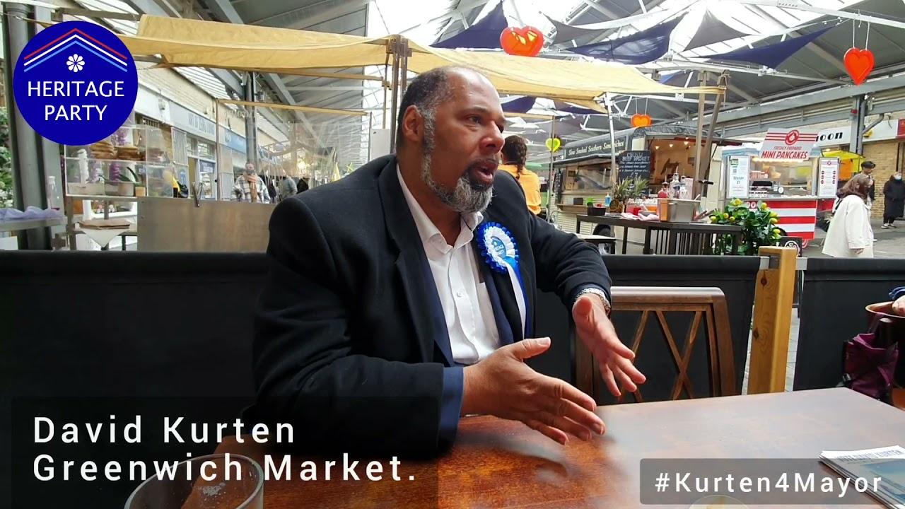 David Kurten for Mayor of London – Greenwich Market