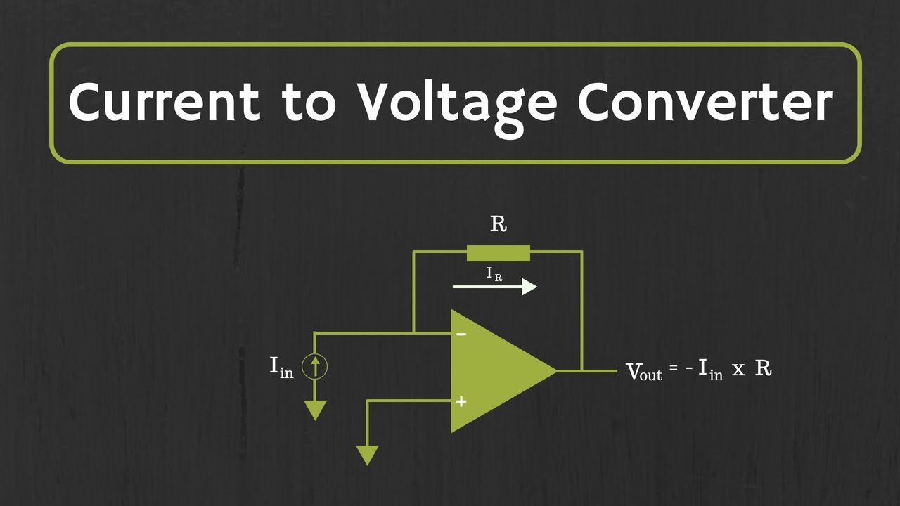 Op Amp Current To Voltage Converter Transimpedance Amplifier And Proposed Schematic Its Applications