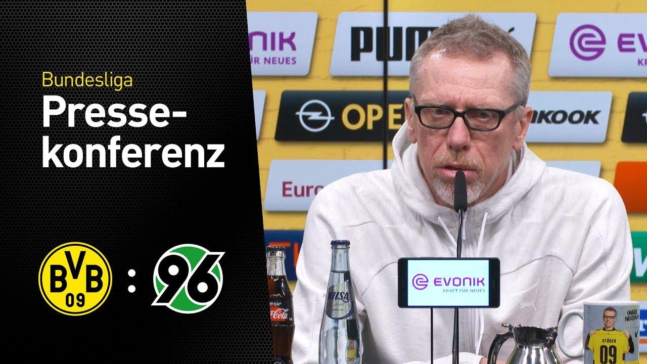 """""""Es ist eine schwierige Saison""""   PK mit Peter Stöger   BVB - Hannover 96"""