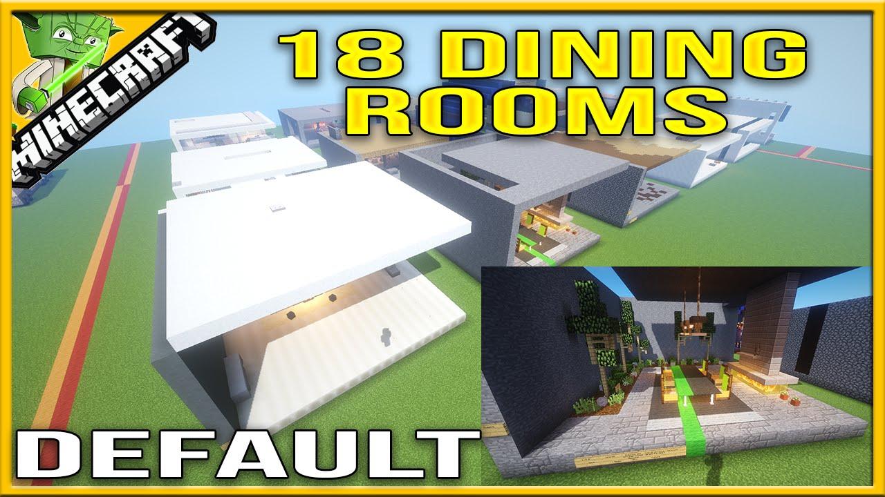 Minecraft 18 Dining Room Designs