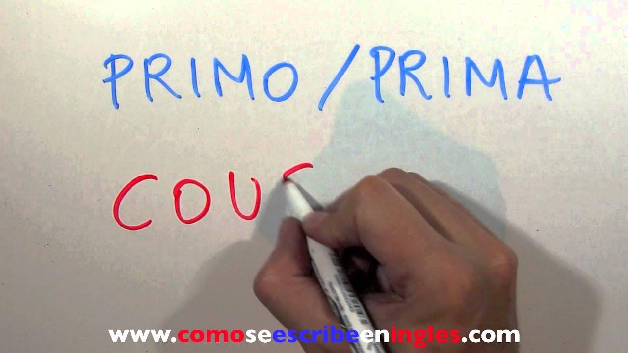 prima Inglés