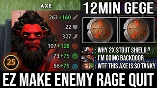 How to Make Enemy Rage Quit and Crazy Backdoor with Axe  Aggressive Plays 12Min GG by Top MMR DotA 2
