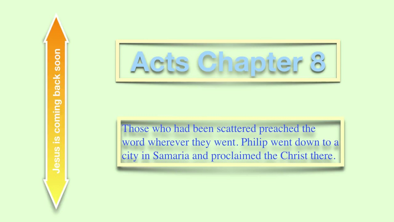 The Book of Acts Chapter 8, Audio Bible (NIV)