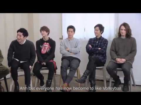 Haikyuu Stage Play Group Interview part 1 ENG SUB