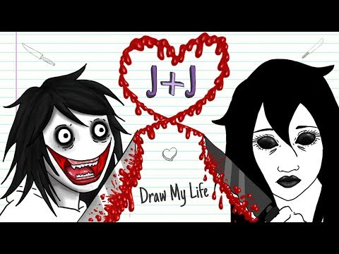 JEFF + JANE THE KILLER  💘🔪 VALENTINE´S DAY| Draw My Life | Creepypasta special love story