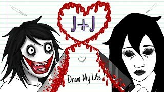 Jeff + Jane The Killer 💘🔪 Valentine´s Day| Draw My Life | Creepypasta Special Love Story