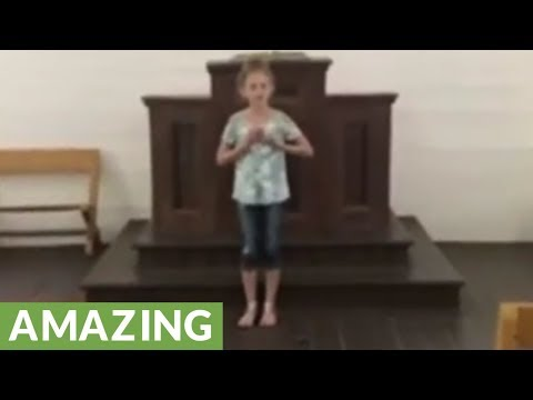 12-year-old girl demonstrates her fantastic singing skills
