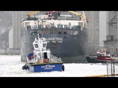 Three Boats Working in Goderich Harbour