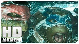 Бойня на спуске с горы - Черепашки-ниндзя (2014) - Момент из фильма