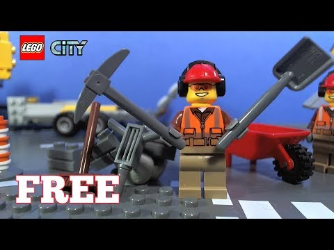 lego city magazine with free building worker youtube. Black Bedroom Furniture Sets. Home Design Ideas