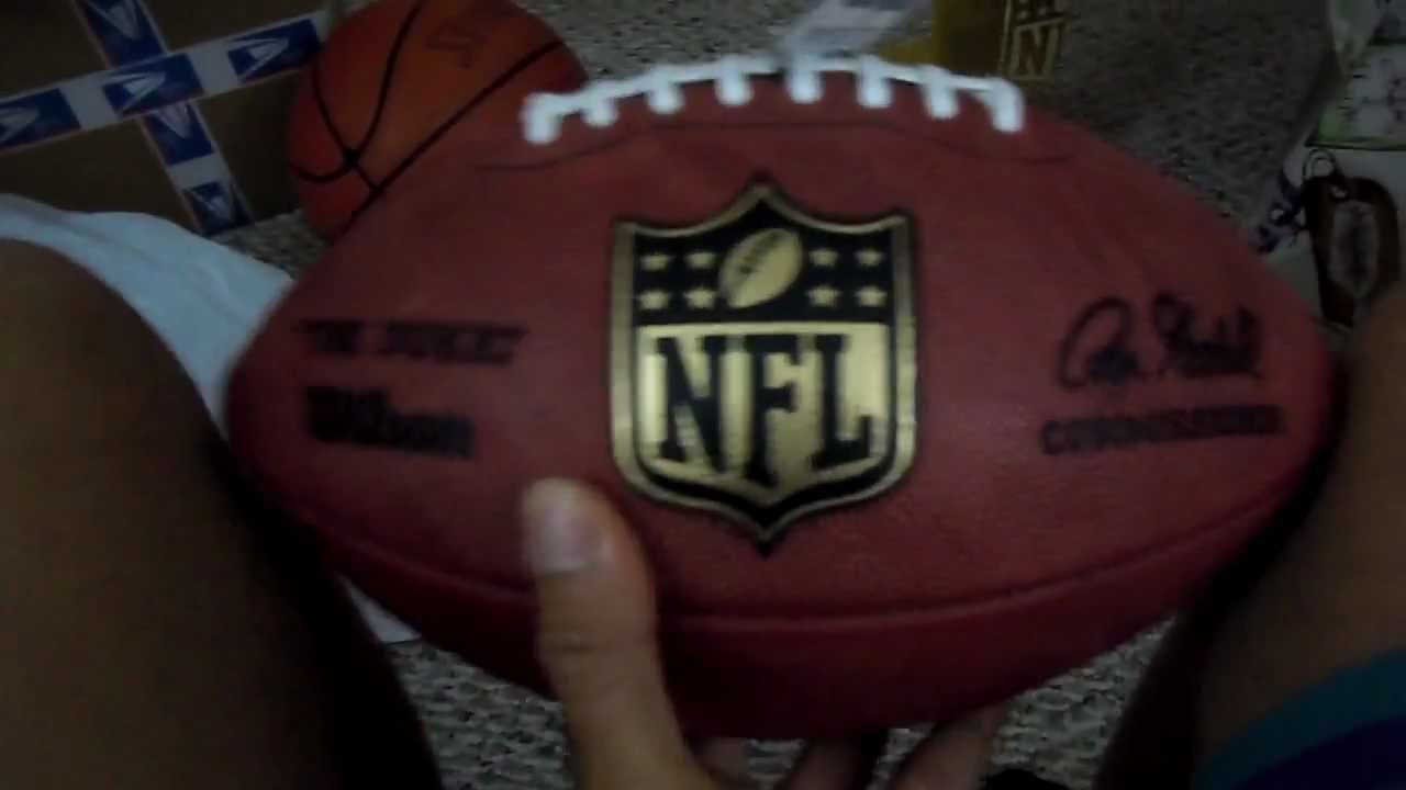 67dcd673a official nfl genuine leather the duke game ball unboxing review ...