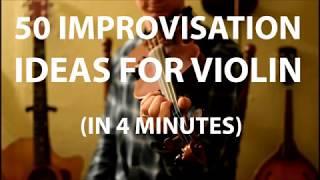 50 Improvisation Ideas for Violin/Fiddle