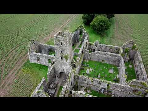 Kilcrea Friary Cork aerial footage 4K