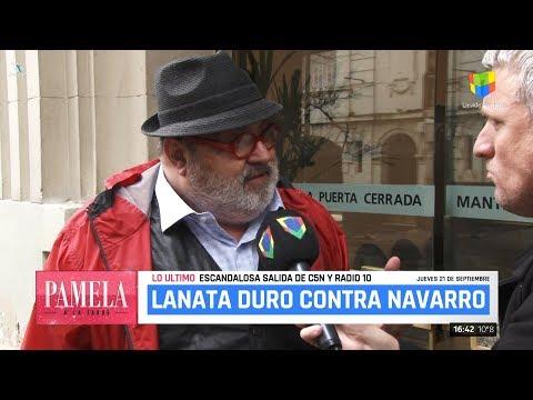 """J.Lanata sobre """"el despido de Navarro"""", en """"Pamela a la tarde"""" de P.David - 20/09/17"""