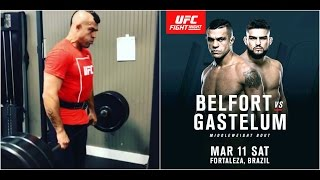 Vitor Belfort training for Kelvin Gastelum fight at UFC Fortaleza