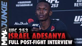 Israel Adesanya breaks down TKO of 'dumb' Paulo Costa | UFC 253 post-fight interview