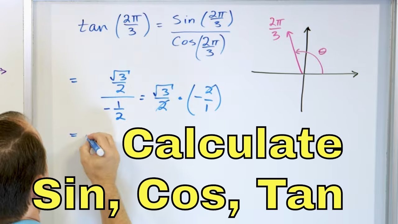 20 - Calculate Sin, Cos & Tan w/ Unit Circle in Radians - Part 20