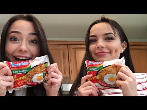 Instant Noodle Challenge - Merrell Twins