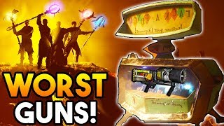 "Top 5 ""WORST"" Guns to Pack A Punch in Black Ops 3 Zombies! (Call of Duty: BO3 Zombies Top 5)"