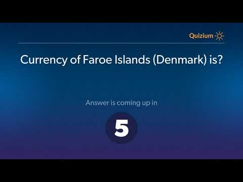 Currency of Faroe Islands Denmark is?   Countries and Currencies Quiz