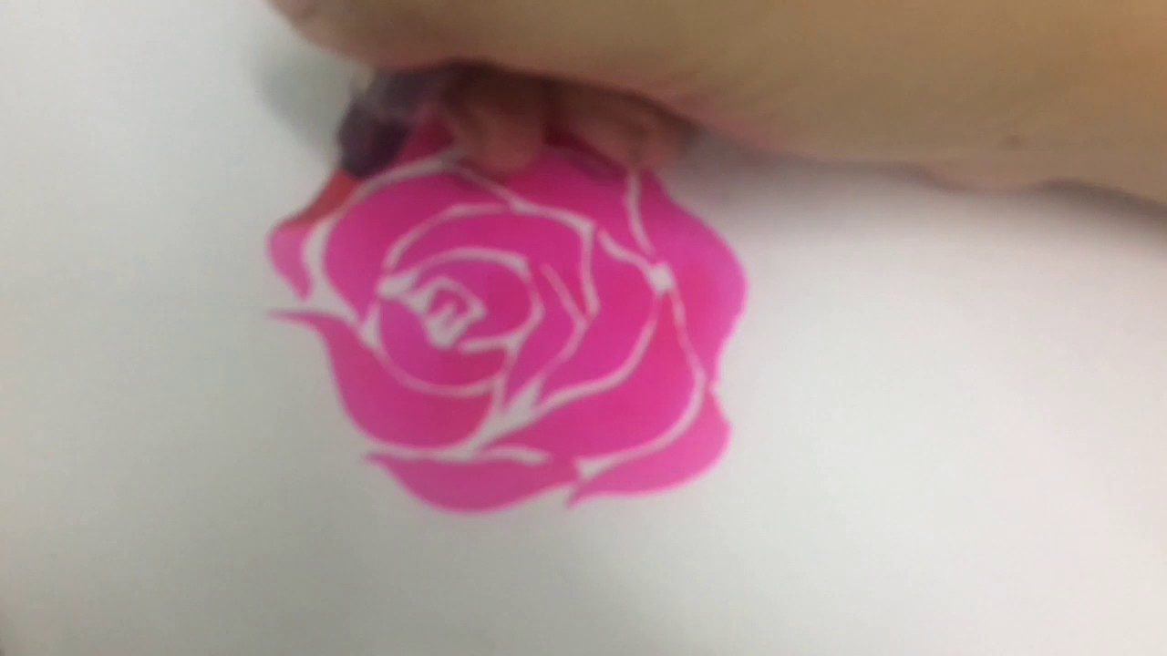 how to draw a rose with a pen