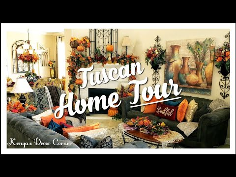 Tuscan Fall Home Tour Part 3 | Livingroom, Dining Room, Kitchen | Vlogtober Day 18