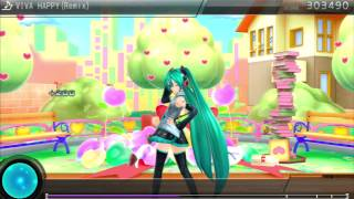 "Project DIVA F 2nd [EDIT PLAY] ""Viva Happy (Rock version)"" ★9 PERFECT"