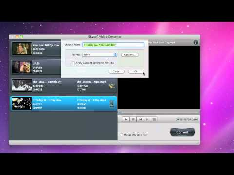 iSkysoft Video Converter for Mac- Convert Virtually any Video Format