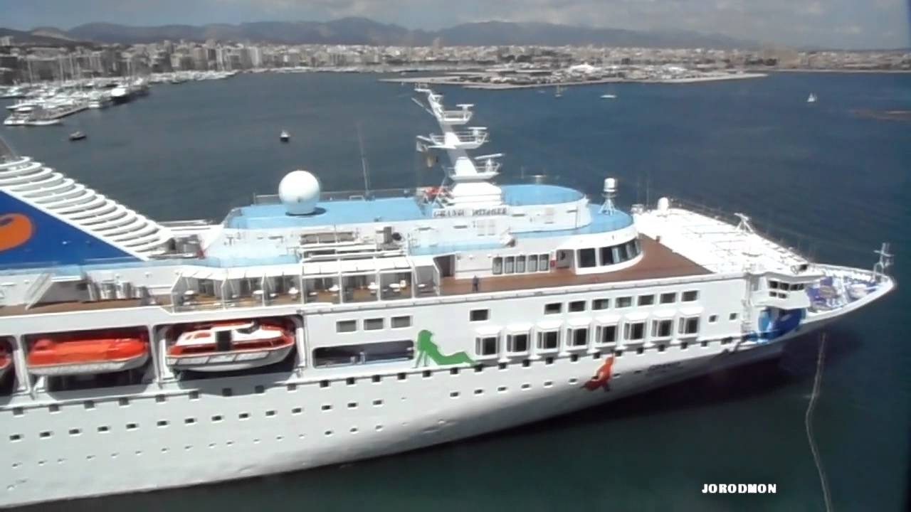 GRAND VOYAGER Saliendo De Palma De Mallorca YouTube - Grand voyager cruise ship