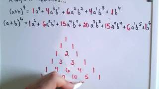 pascals triangle and the binomial coefficients