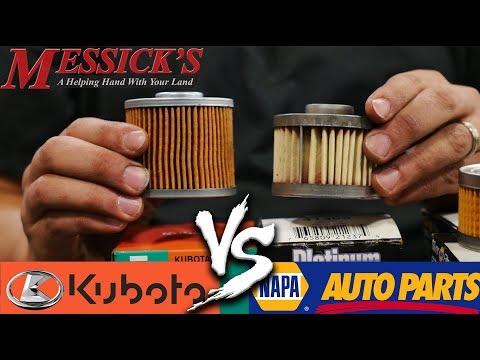 Napa Filters VS Kubota Filters - Do You Need OEM Filters?