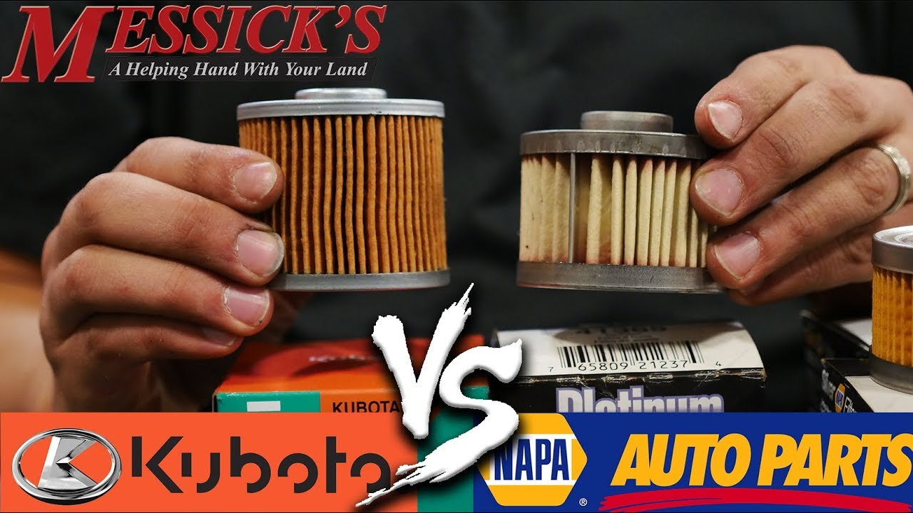 Napa Filters VS Kubota Filters - Do you need OEM filters?