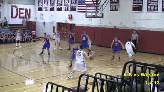 Acton Boxborough Varsity Boys Basketball @ Weston 1/4/13