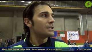 04-04-2015: F4 B1M - Le parole di Enrico Libraro dopo il secondo posto in Coppa Italia con Aversa