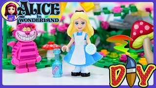 Alice in Wonderland Custom DIY Lego Minidoll Makeover - Make clothes for a minidoll tutorial