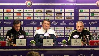 Pressekonferenz nach dem Spiel FC Erzgebirge Aue - 1. FC Magdeburg 0:0