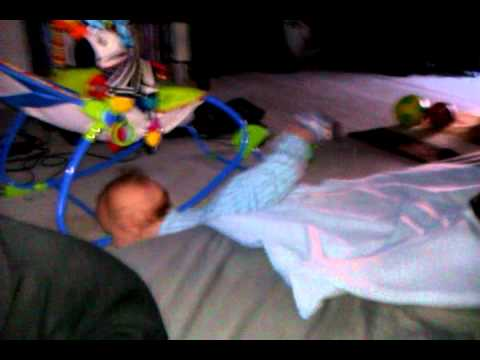 Baby Falls Off Bed! X Man!