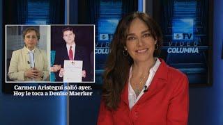Carmen Aristegui salió ayer. Hoy le toca a Denise Maerker.
