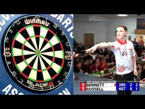 Leighton Bennett hits World Record Youth Average - 2019 BDO British Internationals