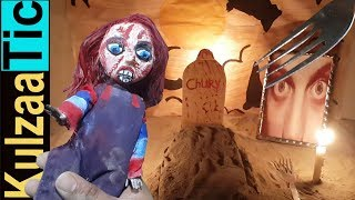 EATING CHUCKY IN HORROR NIGHT!! ASMR Kulzaa Tic #125 | Eating Sounds | Fake Eating Don't Try